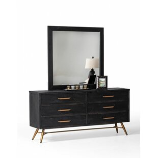 Haslingden 6 Drawer Double Dresser with Mirror