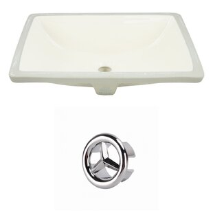 Royal Purple Bath Kitchen CUPC Ceramic Rectangular Undermount Bathroom Sink with Overflow