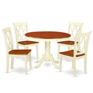 Kuhl 5 Piece Solid Wood Dining Set