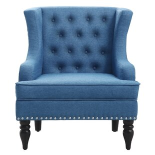 Wonderful Light Blue Wingback Chair | Wayfair RU88