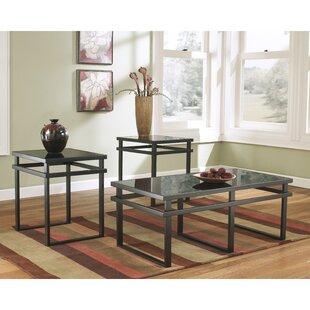 Read Reviews Prompton 3 Piece Coffee Table Set ByLatitude Run