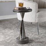 Spuglio Pedestal End Table by Orren Ellis