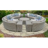 Claire 11 Piece Sectional Seating Group With Cushions By Rosecliff Heights Newshopfurnitures