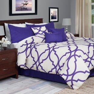 Latitude Run Hanson 7 Piece Reversible Comforter Set