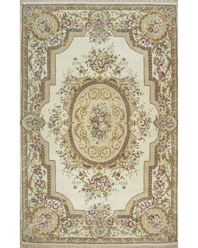 Ophelia Co Nantwich Floral Oriental Hand Tufted Wool Ivory Area Rug Reviews Wayfair
