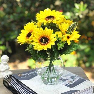 Silk Sunflower Arrangement Wayfair