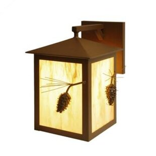 Great Price Ponderosa Pine Large 1-Light Outdoor Wall Lantern By Steel Partners