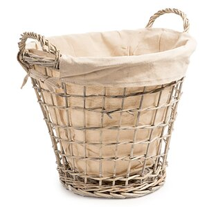 Round Willow Wicker Laundry Basket