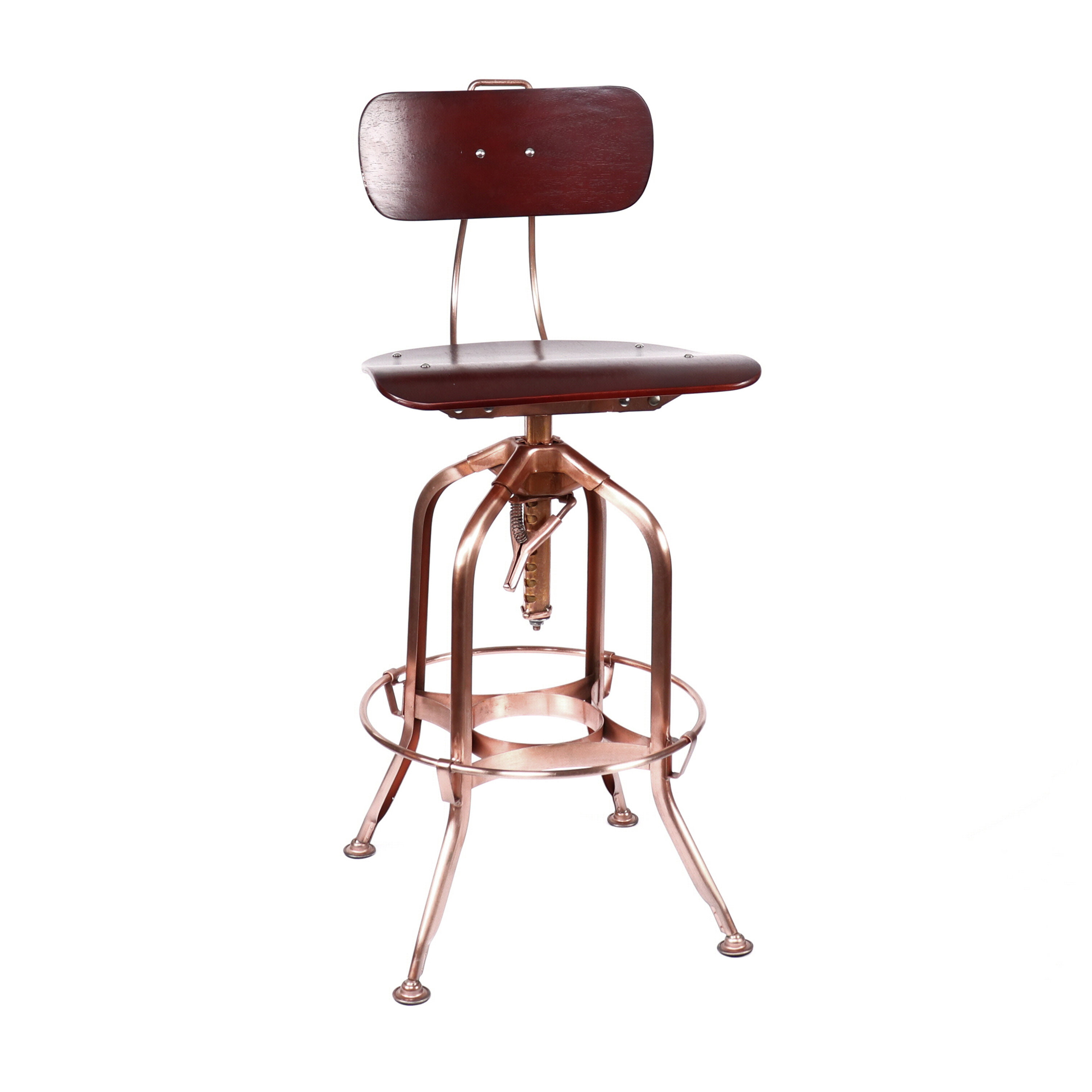 Peachy Desrochers Back Adjustable Height Swivel Bar Stool Squirreltailoven Fun Painted Chair Ideas Images Squirreltailovenorg