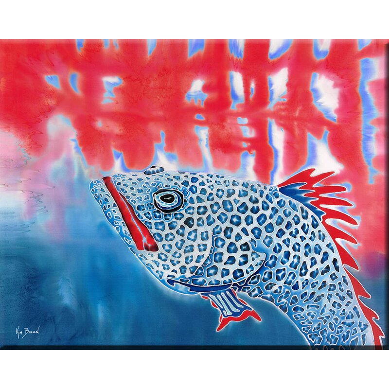'Grouper' Graphic Art Print on Wrapped Canvas