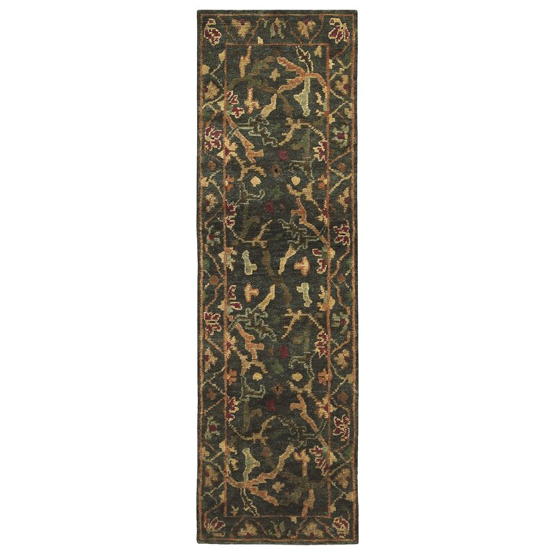 9x12 New Nourison Nourmak Hand Knotted Wool Reversible: Nourison Tahoe Hand-Knotted Wool Charcoal Area Rug