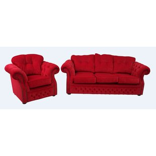 Chesterfield 2 Piece Sofa Set By Winchester Leather Ltd