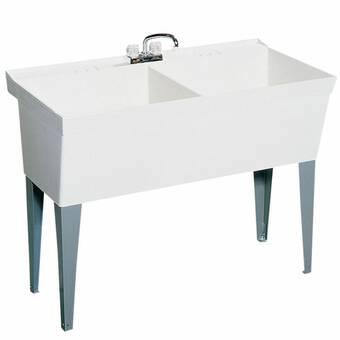 Restaurant Supply Depot 39 5 L X 24 5 W Free Standing Bar Sink Wayfair