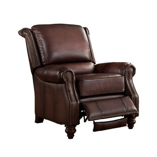 Geri Leather Manual Recliner by Canora Grey