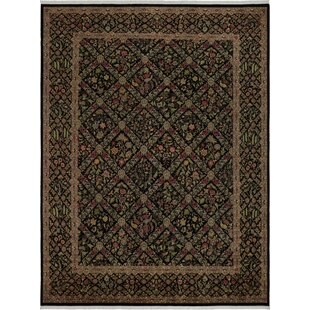 Check Prices One-of-a-Kind Aaru Hand-Knotted Wool Black/Gray Area Rug By Isabelline