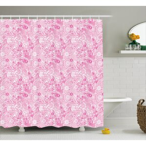 Simeon Paisley Flowers Leaves Shower Curtain