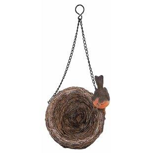 Hanging Robin Nest Bird Feeder By Vivid Arts