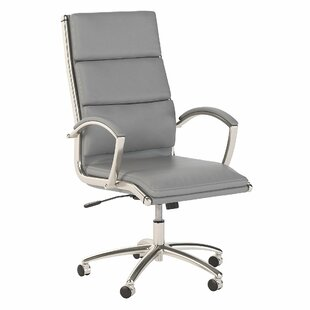 Echo High Back Genuine Leather Conference Chair by Bush Business Furniture
