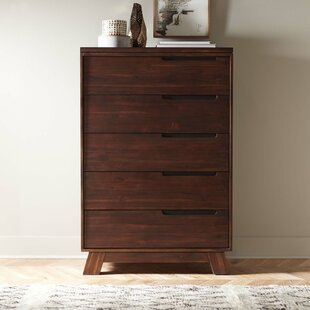 Brayden Studio Damiani 5 Drawer Chest Image