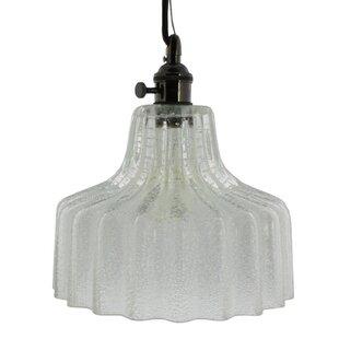 Gracie Oaks Bedsworth Glass 1-Light Novelty Pendant
