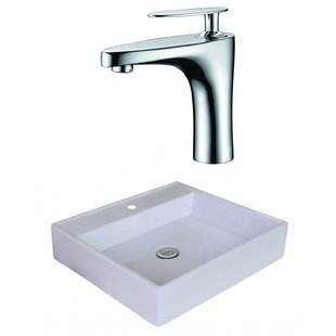 Buying Ceramic Square Vessel Bathroom Sink with Faucet By Royal Purple Bath Kitchen