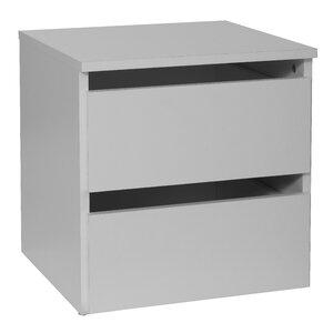 Nachttisch Madrid mit 2 Schubladen von Hokku Designs