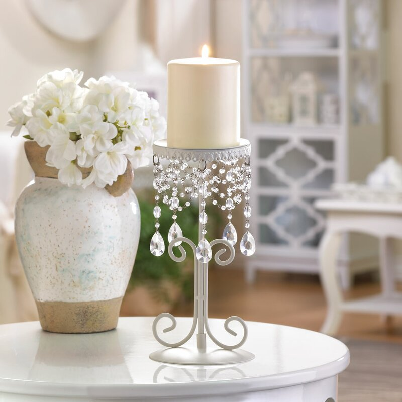 Beaded Crystal Candle Stand