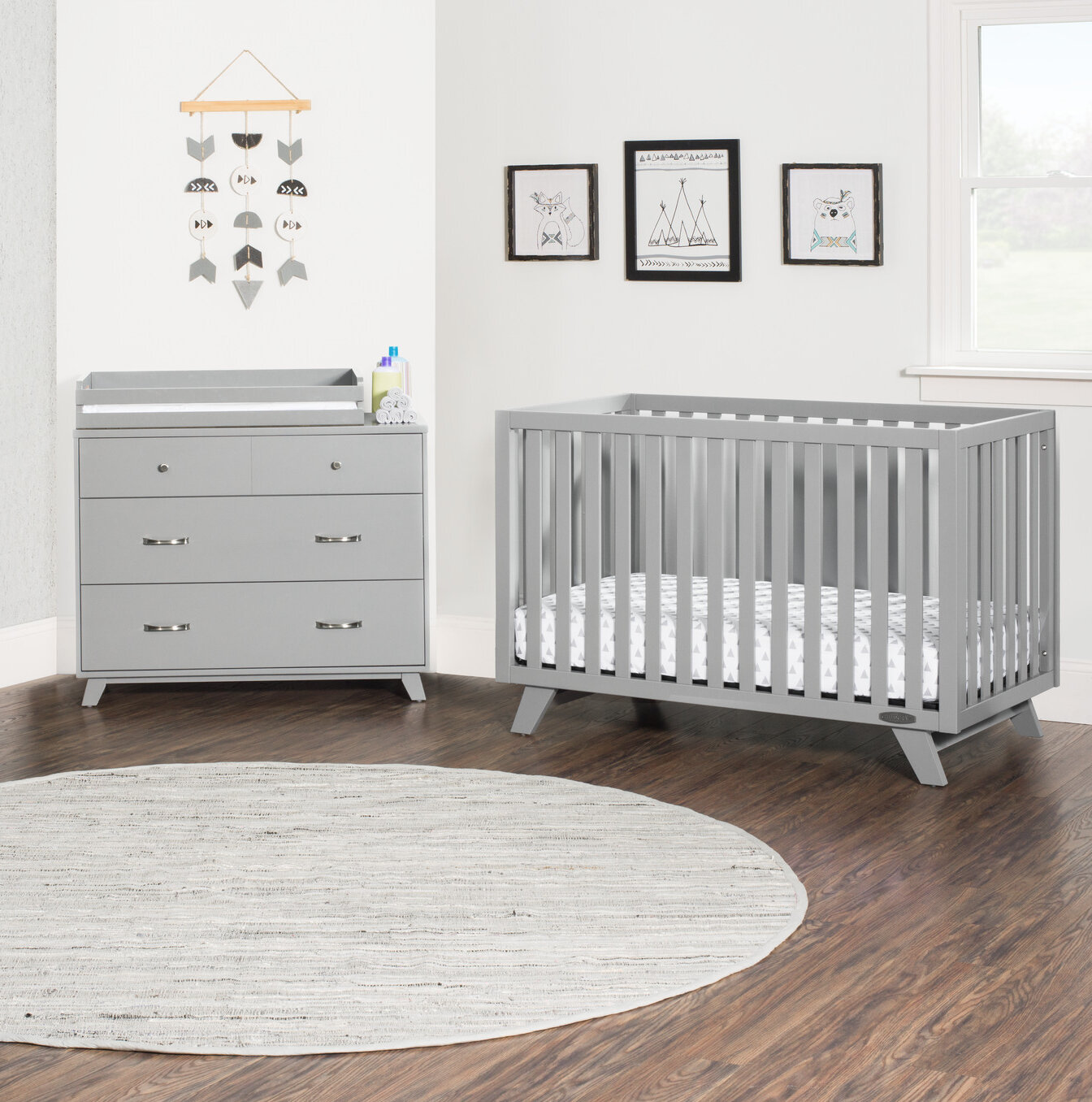 Kaiser Point 4 In 1 Convertible Standard 3 Piece Nursery Furniture Set
