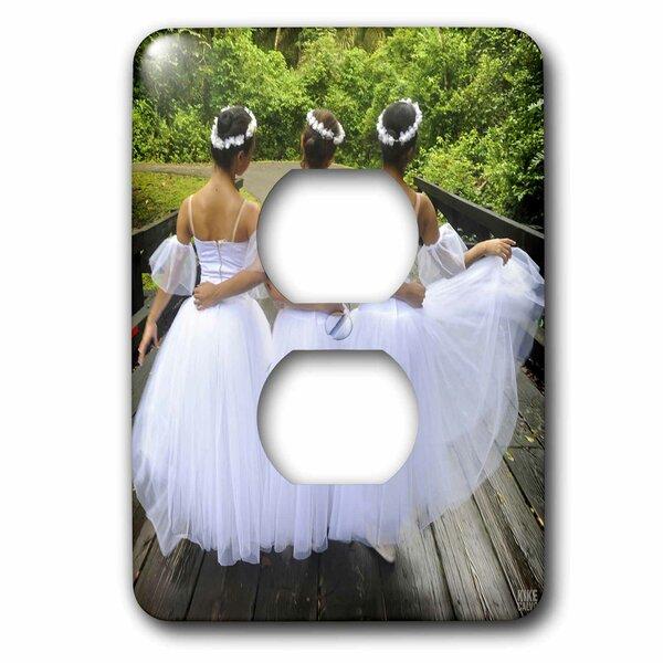 3drose Three Ballerinas Portray A Romantic Walk On Soberanias National Park Jungle 1 Gang Duplex Outlet Wall Plate Wayfair