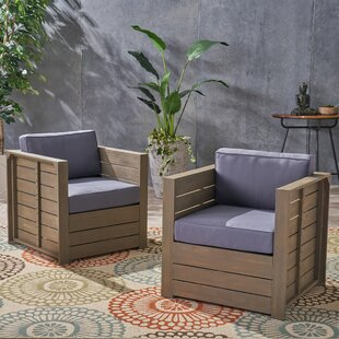 Gracie Oaks Are Patio Chair with Cushion ..