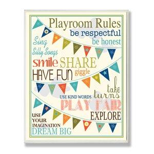 Playroom Pennants Textual Art