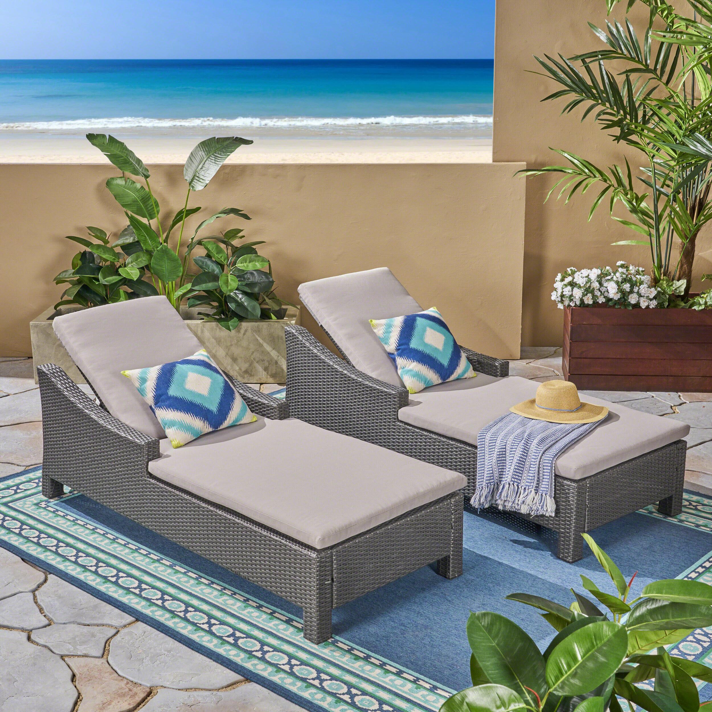 Phenomenal Portola Outdoor Reclining Chaise Lounge With Cushion Creativecarmelina Interior Chair Design Creativecarmelinacom