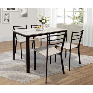 Leeds Dining Set With 4 Chairs By Home Loft Concept
