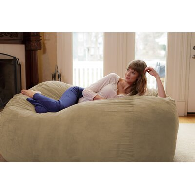 Theater Sacks Bean Bag Sofa Upholstery: Camel