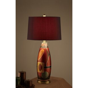 Charpentier Mosaic Pattern Base Deep Drum Shade 31 Table Lamp (Set of 2)