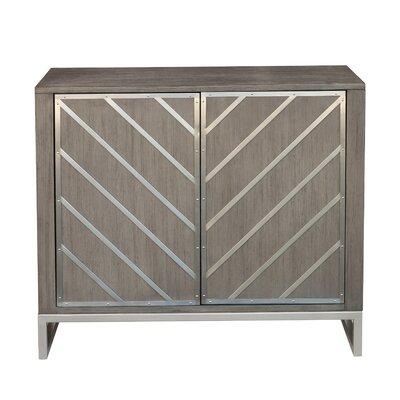 Brayden Studio Leonia 2 Door Accent Cabinet Color: Gray