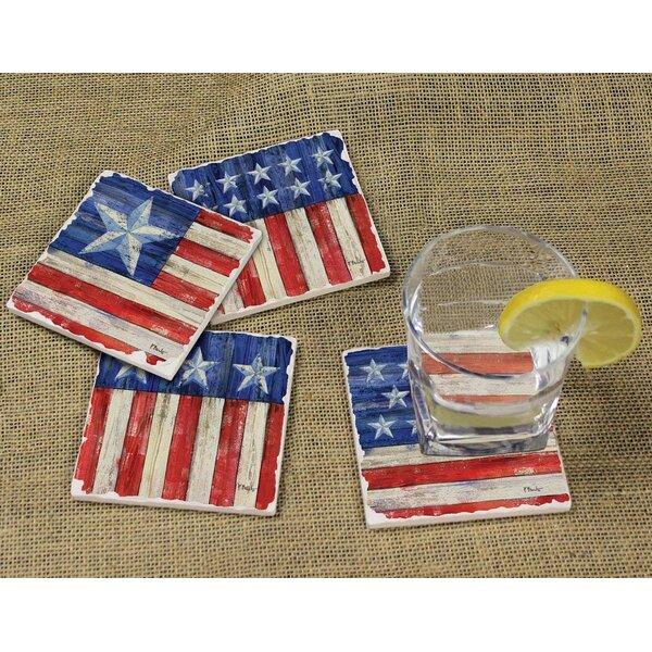 American Flag II Thirstystone Drink Coaster Set