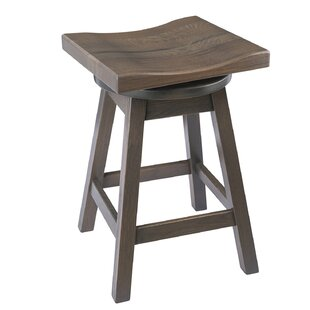 Candleick 24 Swivel Bar Stool Loon Peak
