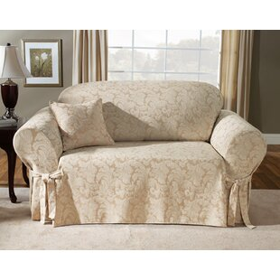 Scroll Classic Box Cushion Loveseat Slipcover by Sure Fit