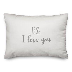 Oey P.S. I Love You Throw Pillow