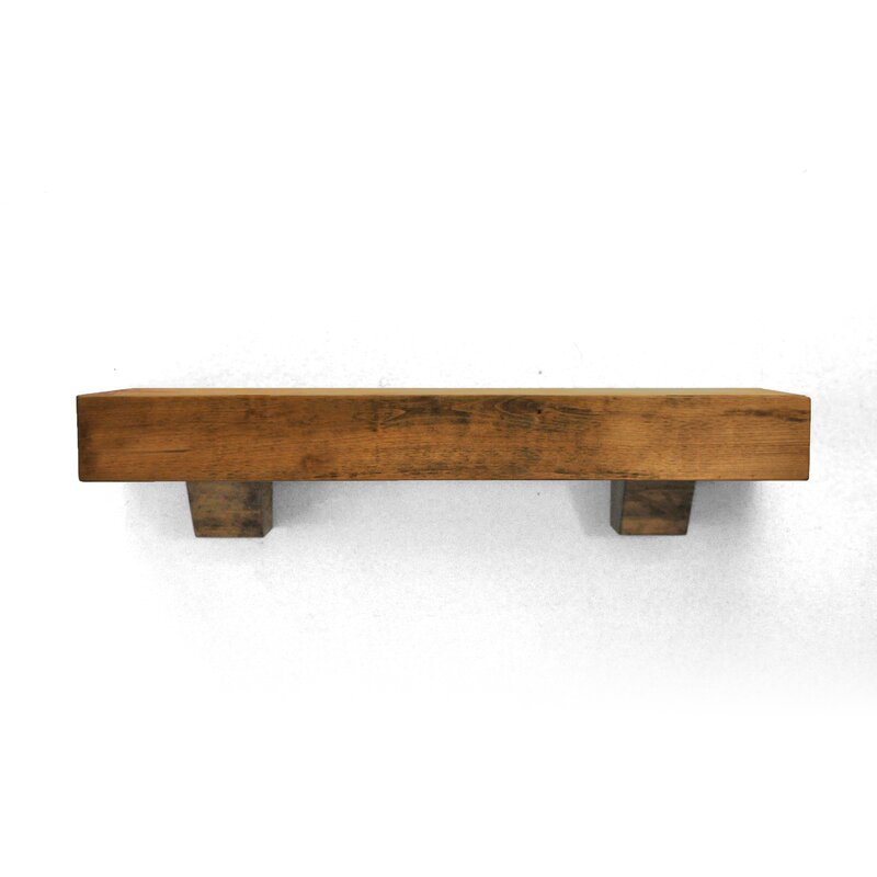 Dogberry Collections Farmhouse Fireplace Mantel Shelf & Reviews ...