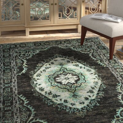 Brilliant Velsen Hand Knotted Chocolateaqua Area Rug Bungalow Rose Rug Gmtry Best Dining Table And Chair Ideas Images Gmtryco