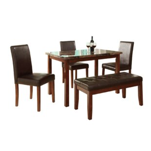 Harrisburg 5 Piece Dining Set by Fleur De Lis Living