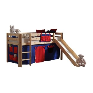 Escalera European Single Mid Sleeper Bed With Curtain By Zoomie Kids