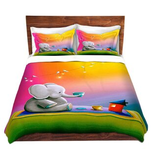 Celia Elephant Duvet Set by Zoomie Kids
