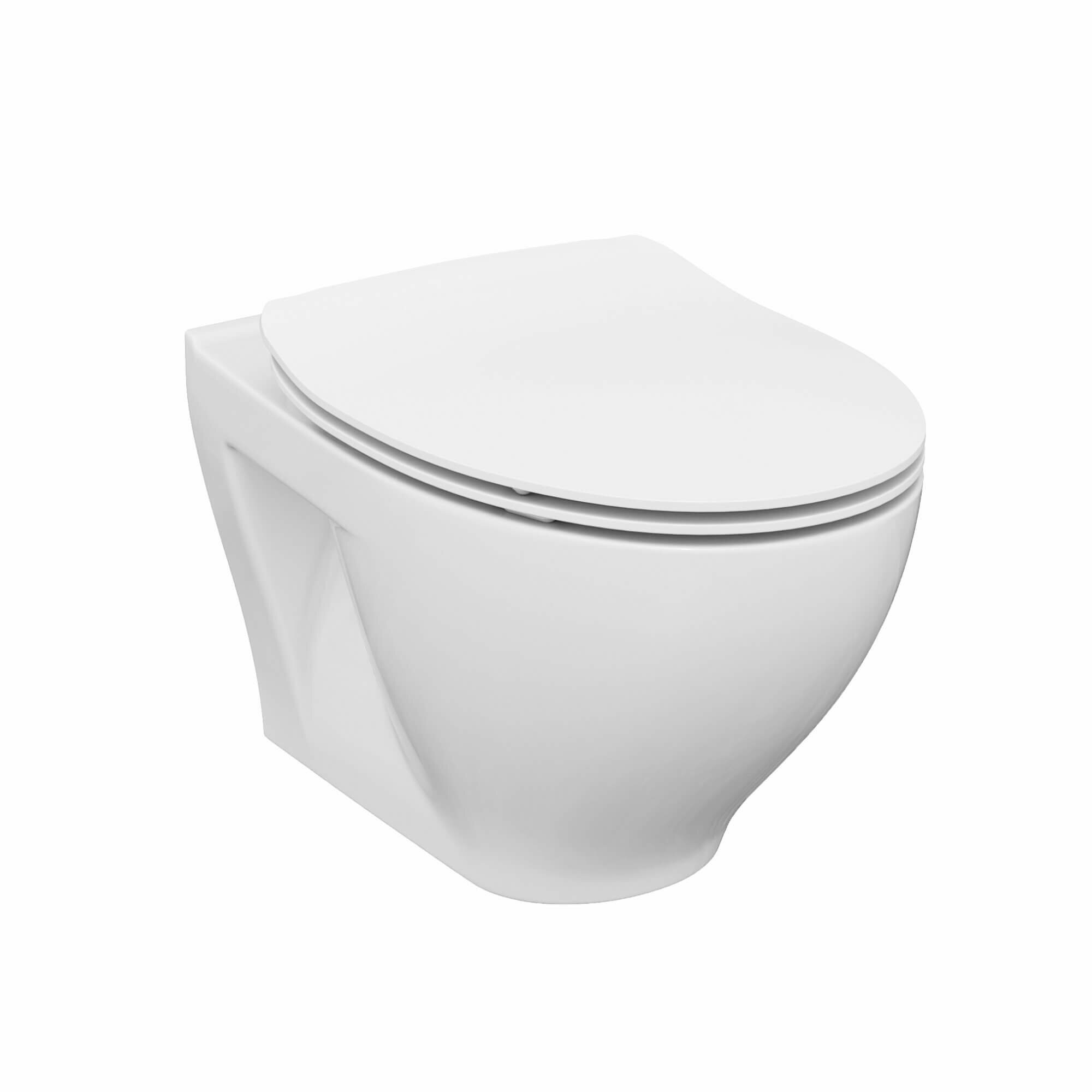 Fine Fixtures Stormon Dual Flush Elongated Wall Hung Toilet Seat Included Reviews Wayfair