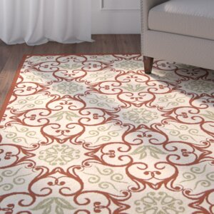 Carleton Ivory & Rust Indoor/Outdoor Area Rug