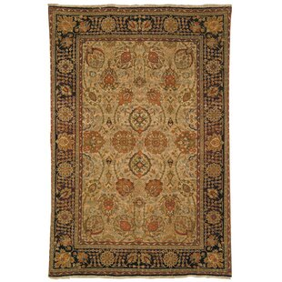 Compare prices Belfield Laristan Camel Hand-Knotted Wool Camel Area Rug By Astoria Grand