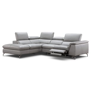 Dupont Leather Reclining Sectional by Wade Logan Discount