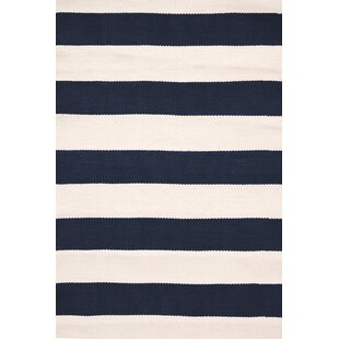Reviews Catamaran Hand-Woven Blue/White Indoor/Outdoor Area Rug By Dash and Albert Rugs